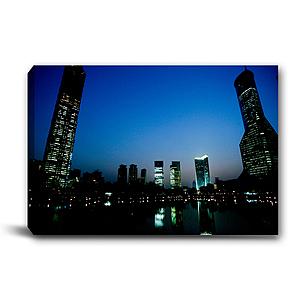 24mama掛畫-單聯式 夜景 風景無框畫 60x40cm