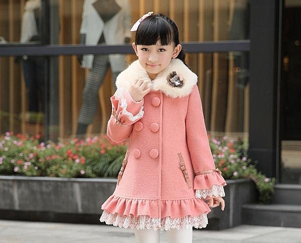 俏魔女美人館 -童裝女童呢子大衣2015秋冬款新款韓版毛呢兒童冬ˋ裝中長款毛呢外套