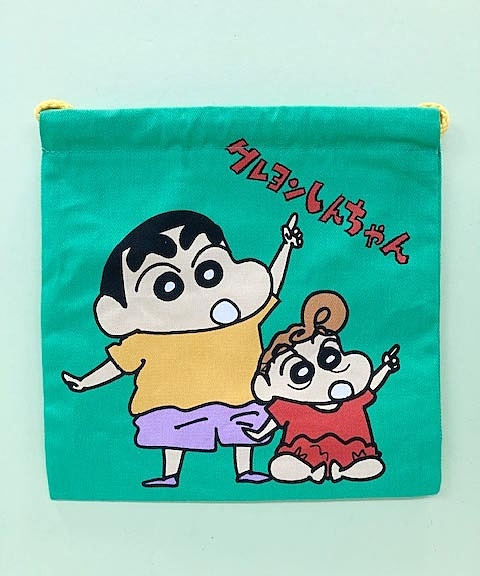 【震撼精品百貨】蠟筆小新_Crayon Shin-chan~小新束口袋-綠#43252