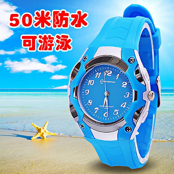 兒童手錶 兒童手錶指針式防水石英錶男孩5-15歲小學生手錶女孩小孩子電子錶 店慶降價