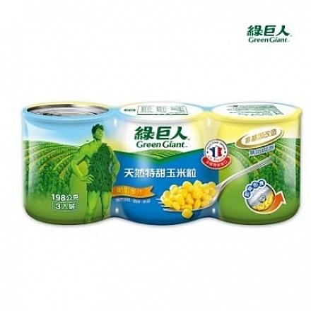 綠巨人特甜玉米粒198g*3入