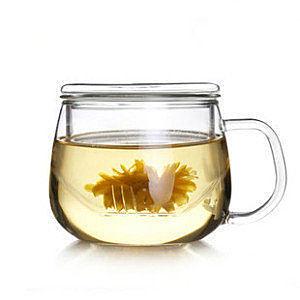 情侶款可愛圓趣杯 玻璃茶具三件套