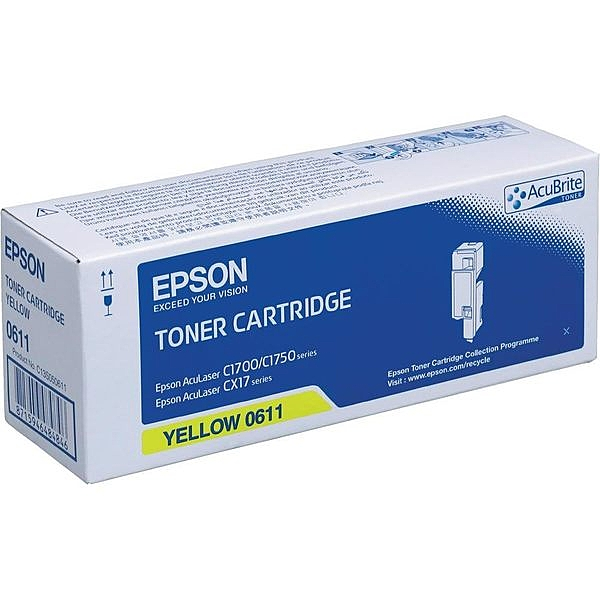 USAINK ~EPSON S050611 原廠黃色碳粉匣 C1700/C1750N/C1750W/CX17NF(1400張)