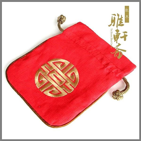 [超豐國際]雅軒齋手鏈袋子 佛珠配套用錦袋 團福田園風 棉麻1入
