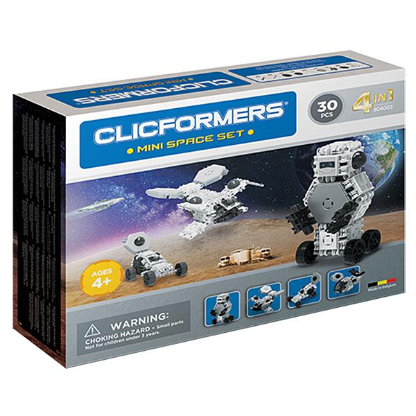 【CLICFORMERS】可立扣益智建構片迷你組-太空 30片 ACT06376