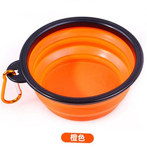 寵物狗狗摺疊碗外出水碗便攜狗碗戶外喝水碗盆水糧兩用杯飲水碗【萬聖夜來臨】