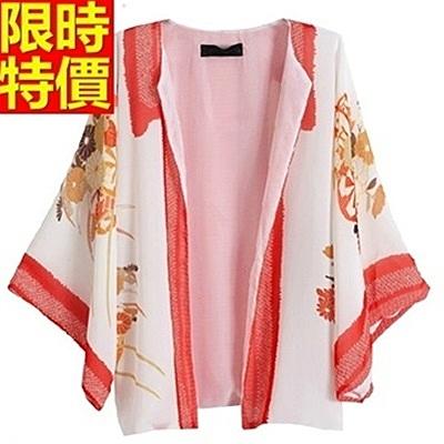 和服外套-日式開衫雪紡歐美風防曬和風女罩衫68af47【時尚巴黎】