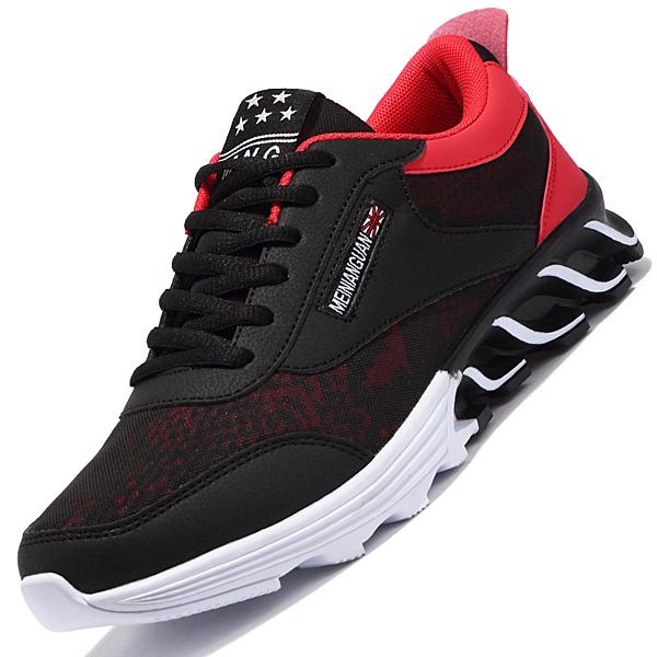 春季新品鞋子透氣跑鞋運動休閒潮流潮鞋男士百搭增高板鞋夏季