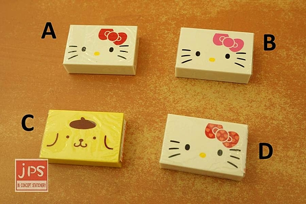三麗鷗 擦子 橡皮擦 Hello Kitty 凱蒂貓 Pom Pom Purin 布丁狗 大臉 共四款 962261