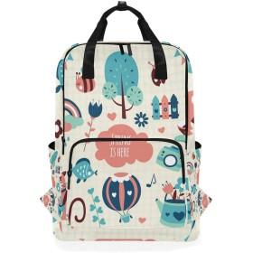 春のピンクの猫の鳥のための肩のバックパックの学生の軽量のおむつ袋旅行余暇子供の女の子の男の子