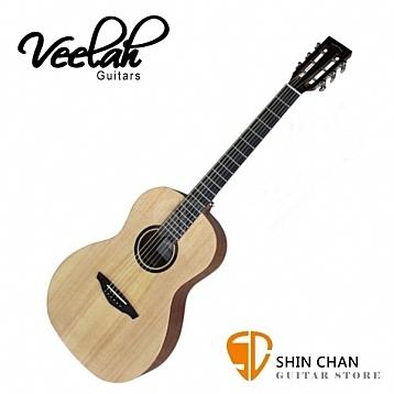 Veelah木吉他 V1-P 民謠吉他/古典琴頭/面單板-附贈Veelah木吉他袋/V1專用(全配件)/台灣公司貨