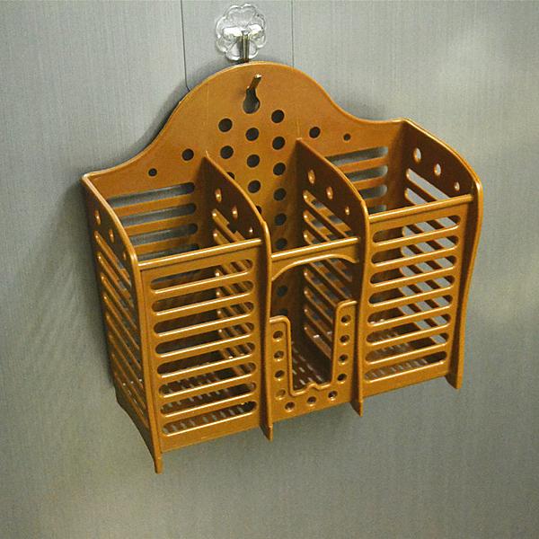 三格筷子筒加厚塑料筷架免釘吸盤壁掛式餐具瀝水架筷籠簍廚房用品【八折搶購】
