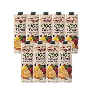 (組)土耳其meysu 100%綜合果汁1L 9入組
