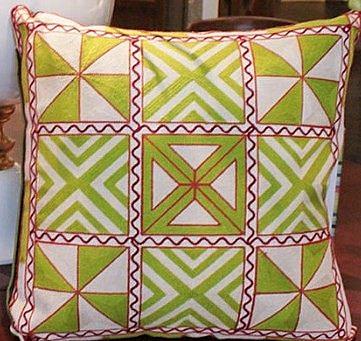 民族風刺繡含芯床頭靠背枕-FD512