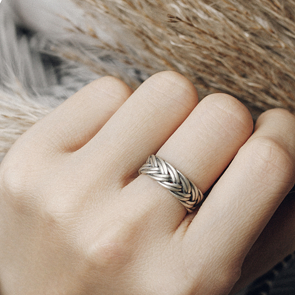 復古925銀戒指個性尾戒指環/設計家