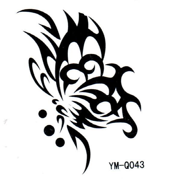 薇嘉雅     蝴蝶 超炫圖案紋身貼紙 Q043