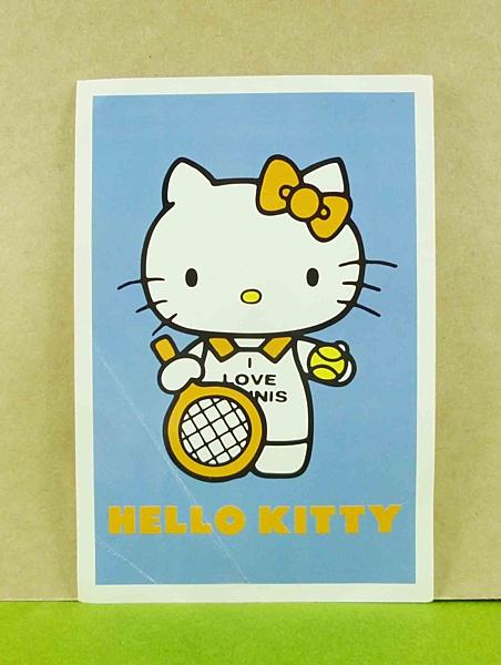 【震撼精品百貨】Hello Kitty 凱蒂貓~造型卡片-藍網球