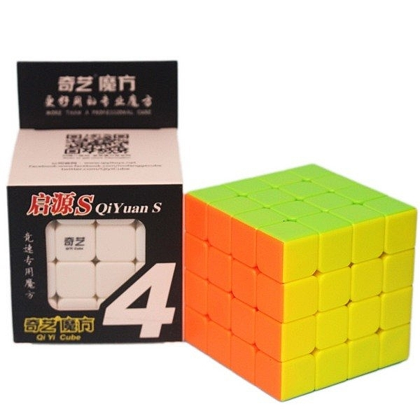魔方格 啟源S四階魔術方塊 160(螢光色6.2cm)/一個入(定199) 比賽專用 TIGER 四節魔術方塊 4x4x4-鑫
