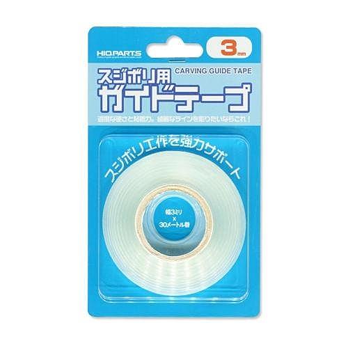 又敗家@日本Hiqparts硬邊膠帶寬3mm刻線膠帶硬膠帶透明厚膠帶模型膠帶畫線膠帶硬邊膠布刻線膠布