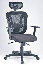 CP-183 高背網椅-T型流線式扶手(附頭枕) / 張