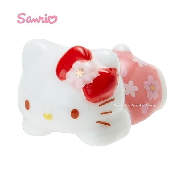 日本限定 HELLO KITTY 凱蒂貓 櫻花版 陶瓷 筷架 / 箸置
