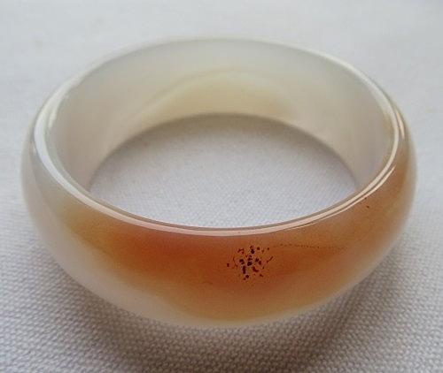 天然花色瑪瑙手鐲#0171  56mm
