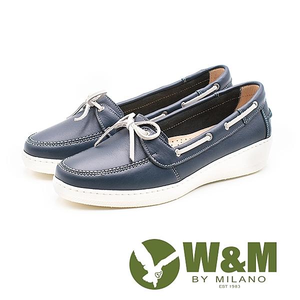 W&M(女)優雅蝴蝶結後增高 休閒鞋-藍(另有黃)