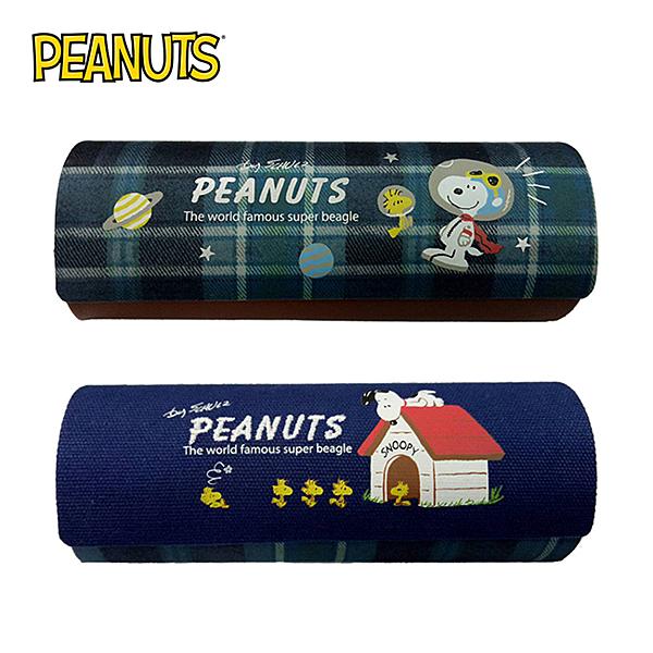 【日本正版】史努比 磁吸式 眼鏡盒 附拭鏡布 Snoopy PEANUTS 265277 265284