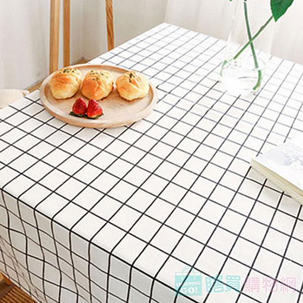 北歐現代簡約田園方格桌巾 素面桌布 餐桌 餐廳 大尺寸140X180