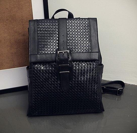 韓國 編織 暗黑 皮革包款