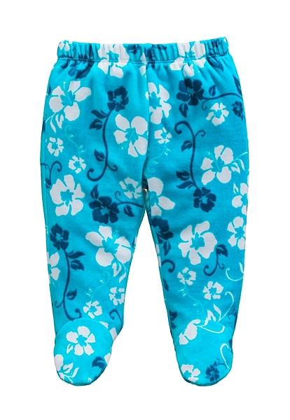 童裝 現貨 保暖天鵝絨寶寶包腳褲-09款藍花【84079】