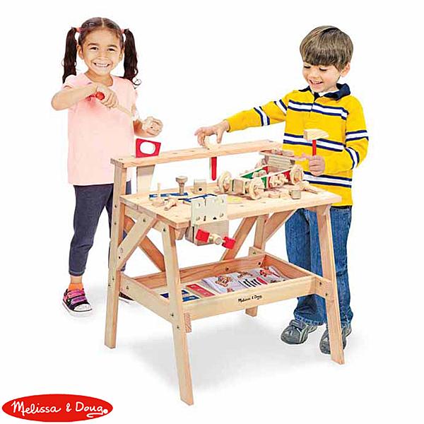 【華森葳兒童教玩具】扮演角系列-Melissa&Doug 小小木匠工作臺 N7-2369
