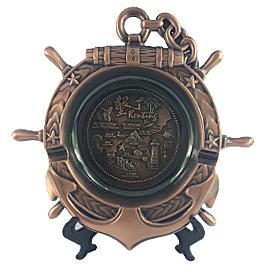 【收藏天地】台灣紀念品*墾丁銅色飾盤