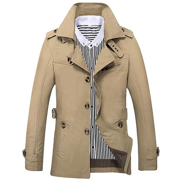 [超豐國際]2016新款秋季成熟男士春秋外套夾克中年男子中長