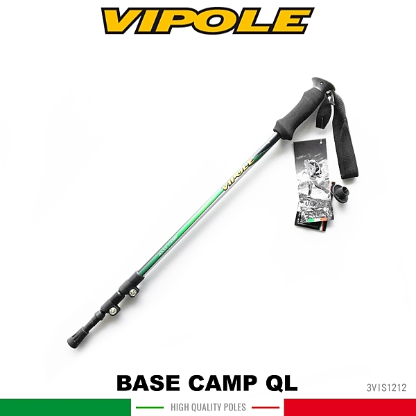 【VIPOLE 義大利 BASE CAMP QL 雙快調登山杖《綠》】S-1212 /手杖/爬山/健行杖