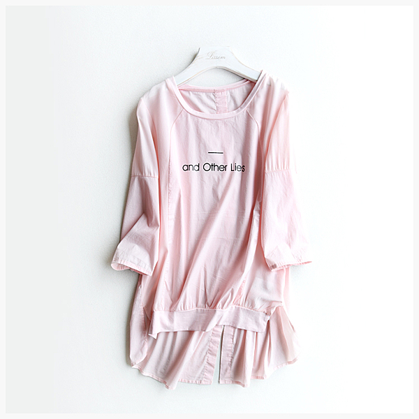 [超豐國際]Z  品味悠閑~~真絲雙縐拼接 全棉上衣 女 F