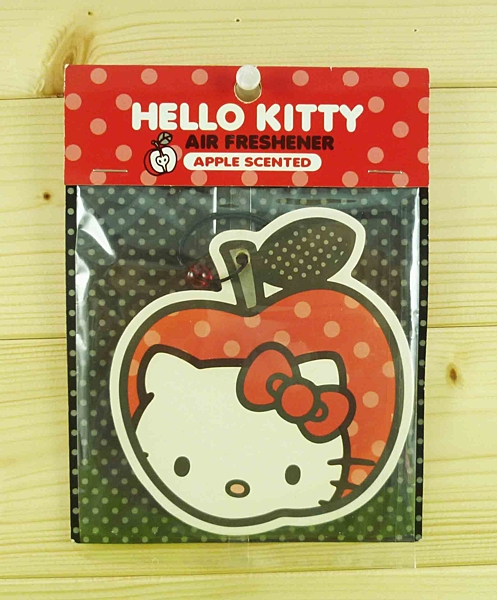 【震撼精品百貨】Hello Kitty 凱蒂貓~造型芳香片-蘋果造型-蘋果味【共1款】