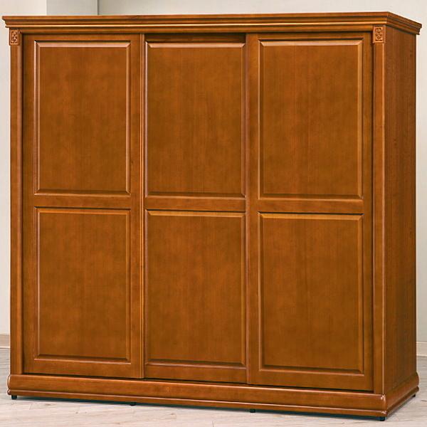 衣櫃 衣櫥 BT-4-6 賽德克7尺實木樟木色拉門衣櫥【大眾家居舘】