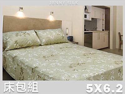 【Jenny Silk名床】儷影雙雙.100%精梳棉.標準雙人床包組.全程臺灣製造