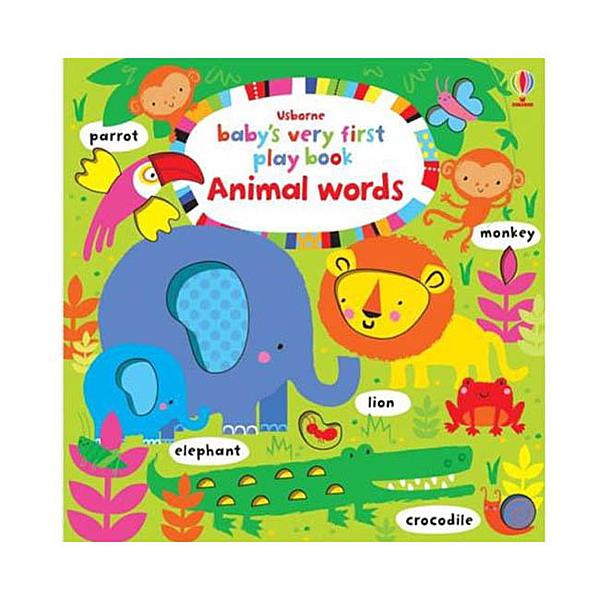 Baby's Very First Play Book Animal Words 小寶貝的第一本單字書:動物篇 精裝  硬頁書