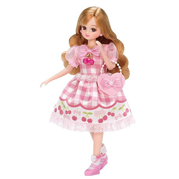 莉卡娃娃 配件 LW-10 粉紅櫻桃裝