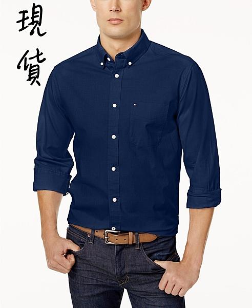 美國代購 現貨 Tommy Hilfiger 深藍色 牛津襯衫 (L)