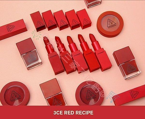 3CE Red RECIPE 唇膏 唇膜 粗糙 豐唇蜜 保濕 唇膏筆 染唇膏 唇露 自動筆 潤唇膏 水潤蠟筆