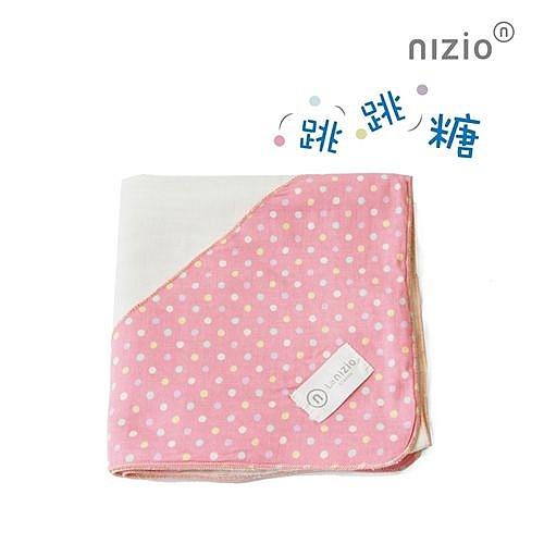 Nizio 跳跳糖嬰兒四層紗浴包巾-粉紅[衛立兒生活館]