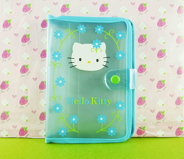 【震撼精品百貨】Hello Kitty 凱蒂貓~收納袋~藍花【共1款】