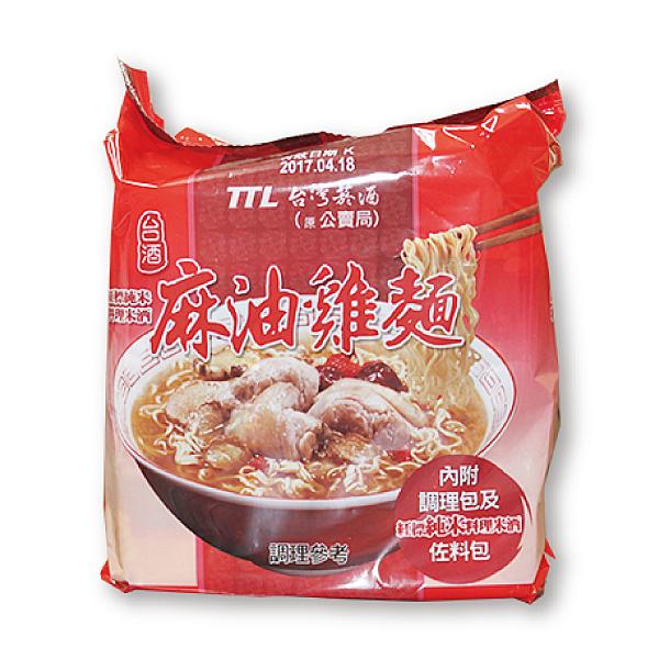 台酒麻油雞袋麵3入/袋