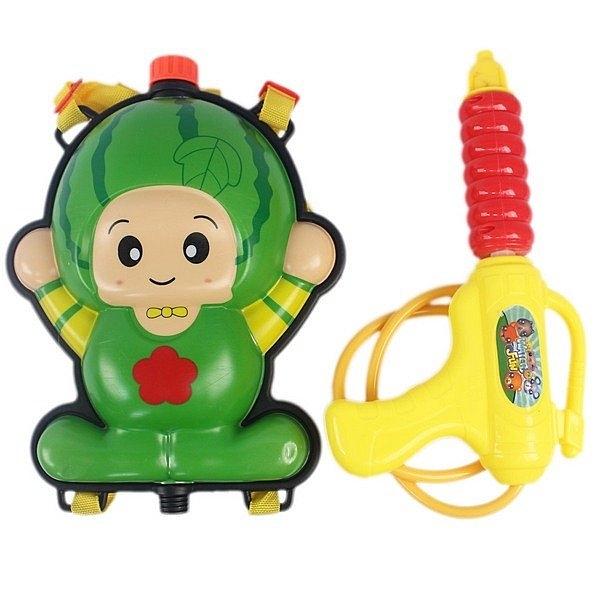 水果背包水槍 西瓜 草莓 槍長28cm/一個入(促199) 水果造型水槍 兒童後背式水槍加壓式強力水槍
