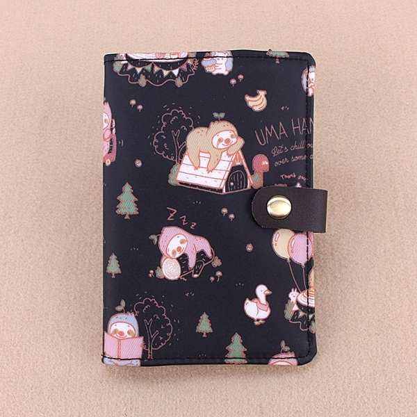 雨朵防水包 U046-017  護照套加扣-黑樹懶與可愛小刺蝟1935613291