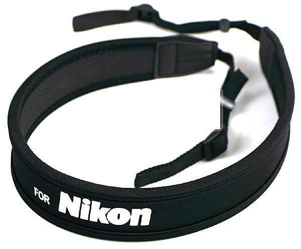 攝彩@Canon Nikon Sony Olympus Pentax Panasonic各廠牌相機減壓背帶-白字黑底款