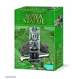 Maya Statue 馬雅文化石雕 挖掘古物遊戲 考古學家 世界文物挖掘 香港4M